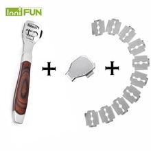 NEW Peach wood Foot Skin Shaver Corn Cuticle Cutter Remover Rasp Pedicure File Foot Callus 10 Blades