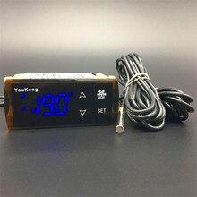 YK-605 high temperature controller with two sensors digital thermostat display refrigerator for deep freezer AV 220V