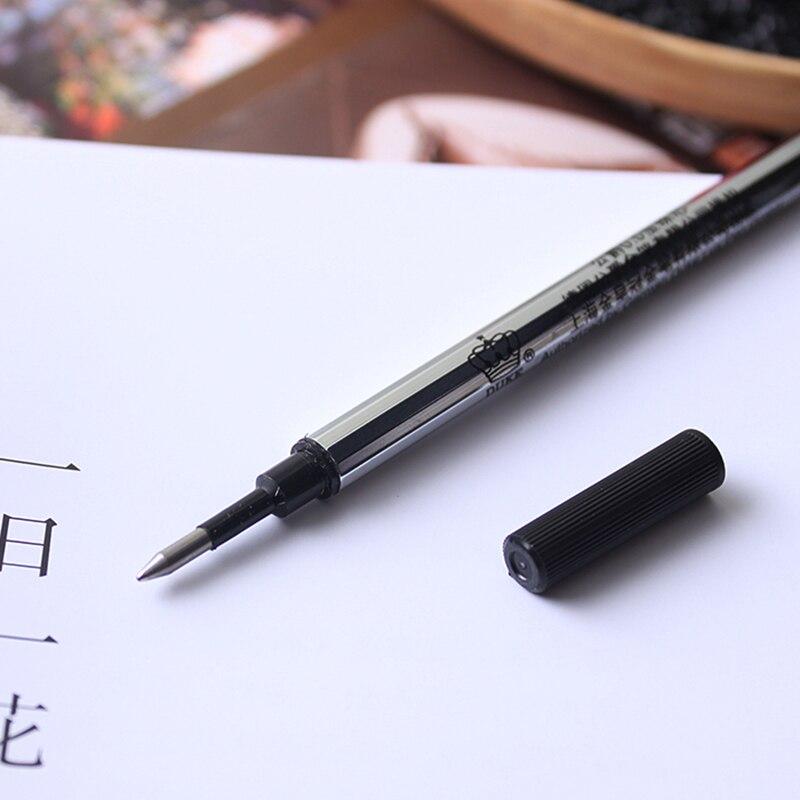 Duke оригинальные заправки 10 шт./лот 0,5 мм черные чернила плоские ручки для роликовых шариков заправки 10,2 см длина