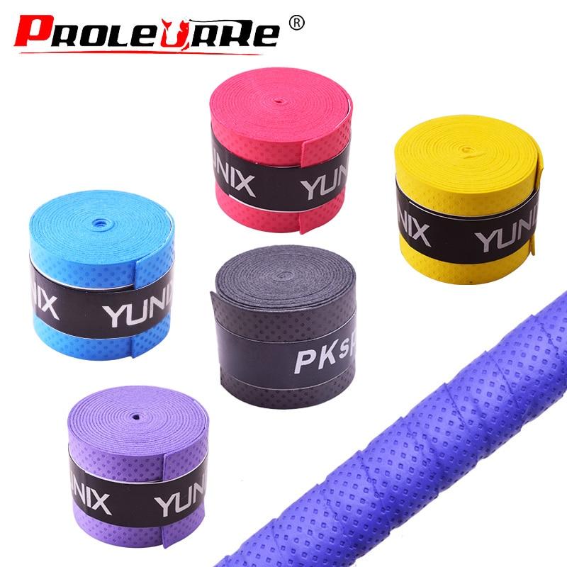 1Pcs Dry Tennis Racket Grip Anti Skid Sweat Absorbed Wraps Taps Badminton Grips Racquet Vibration Overgrip Sweatband Hot Sports
