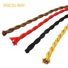 Оптовая цена медный провод 3 м/лот 2x0,75 цвета винтажный тканевый кабель медный проводник Электрический провод витой кабель для лампы