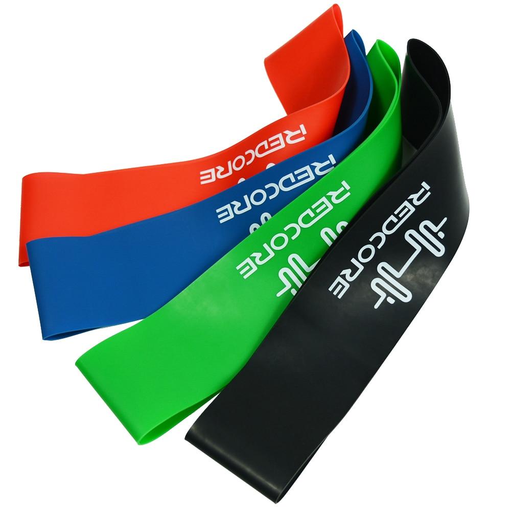 Bandes de résistance pour le Yoga, bandes en caoutchouc pour lentraînement, le Pilates, 6 niveaux 0.35mm-1.3mm, bandes de Sport élastiques pour la musculation