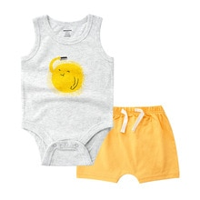 Brand new one piece jumpsuits + short pants Baby Boy Summer Set 100% cotton Baby Boy Clothing Sets Roupas Infantis Menino