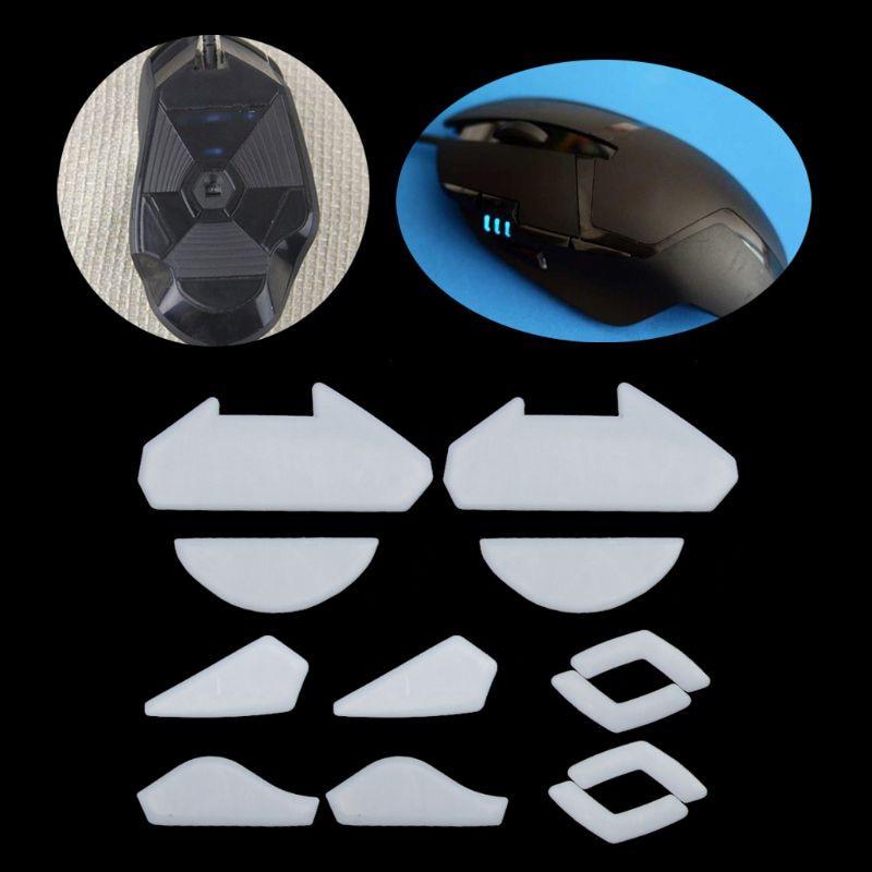 2 Sets/pack Tigre ratón de juego pies ratón Skate para Logitech G402 Gaming Mouse blanco ratón teflón se desliza borde de la curva