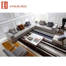 Coin lin tapisserie dameublement L forme chaise longue canapé salon canapé ensemble meubles