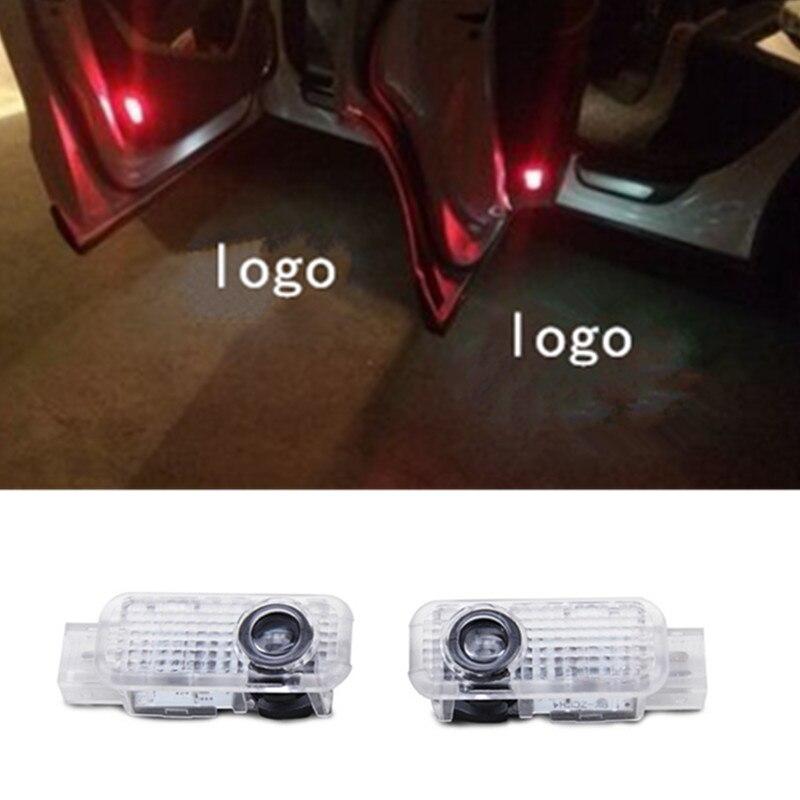 2pcs LED porta Do Carro Cortesia laser projetor Logo Santo Sombra luz Para R8 Q3 Q5 Q7 TT A1 A3 A4 A5 A6 A7 A8 S6 S4 S7 S3 RS4 RS6