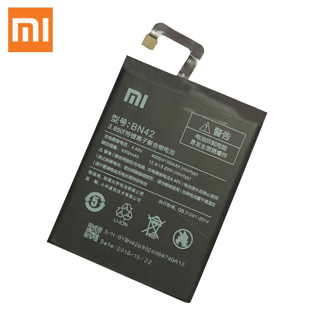 Xiao mi original bn42 bateria do telefone móvel para xiaomi redmi 4 bateria de substituição alta capacidade 4000 mah alta qualidade
