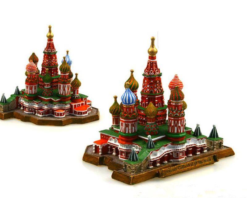 Rússia vasily assunção igreja artesanato resina criativa mundialmente famoso marco modelo turismo lembrança presentes coleção decoração de casa