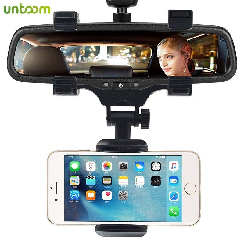 Универсальный автомобильный держатель для телефона 360 градусов для Apple iPhone Samsung GPS смартфон подставка для автомобиля зеркало заднего вида держатель для телефона