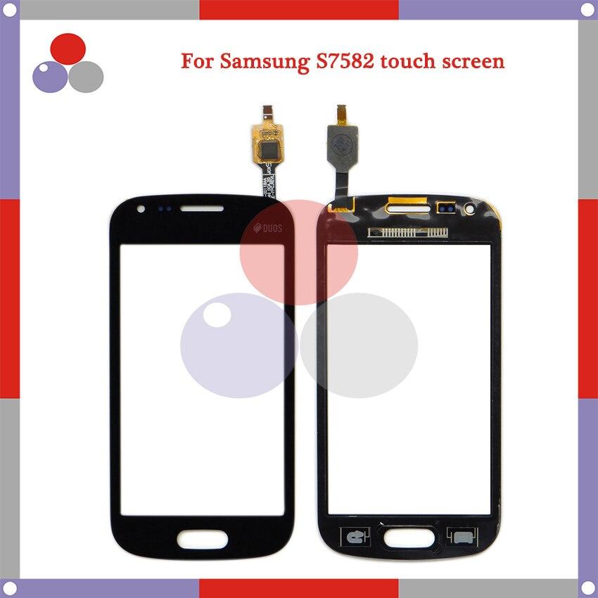 10 unids/lote de alta calidad para Samsung Galaxy Trend Plus S7580 S7582 Panel de pantalla táctil digitalizador lente de vidrio exterior