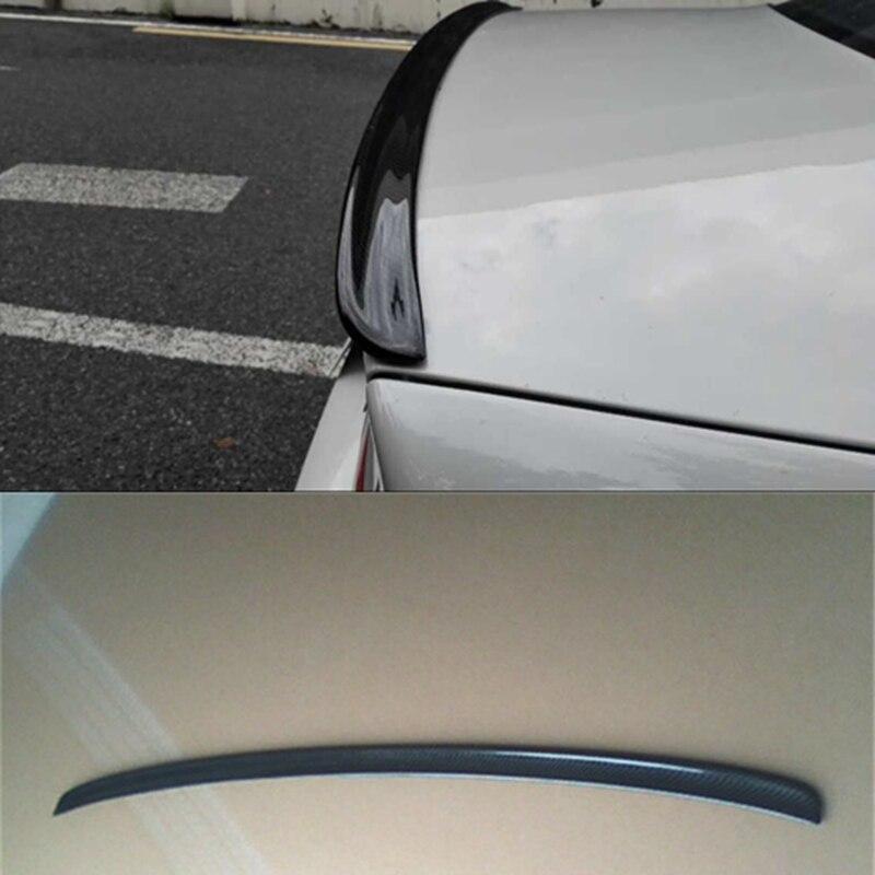 CSL estilo pico de pato negro trasero de fibra de carbono maletero tapa alerón trasero para BMW 2001-2006 E46 2DR Coche