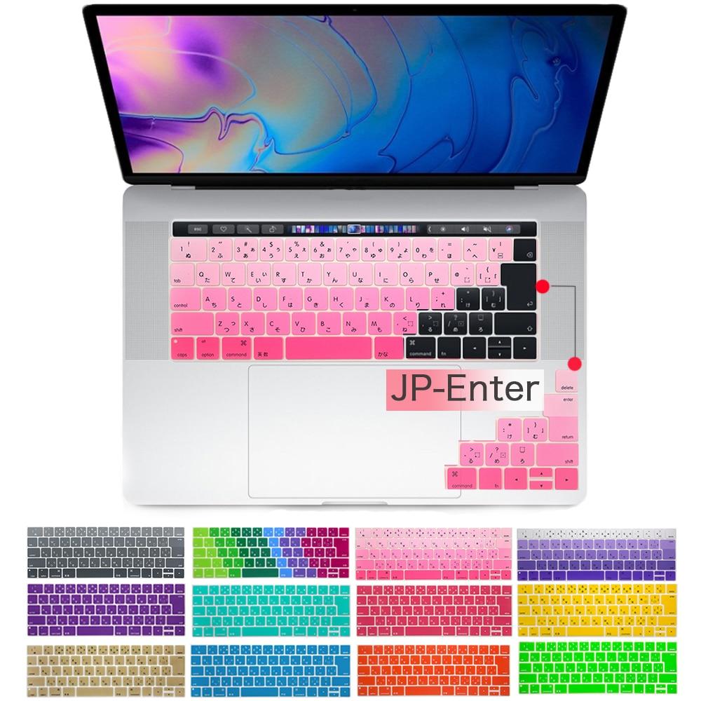 Японская версия, чехол для клавиатуры, чехлы для клавиатуры ноутбука Mac book touch bar 13, 15 дюймов, чехол для клавиатуры ноутбука