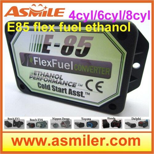 E85 Kit etanol E85car kit de conversión ECO bioetanol caja 4cyl DHL EMS precio libre