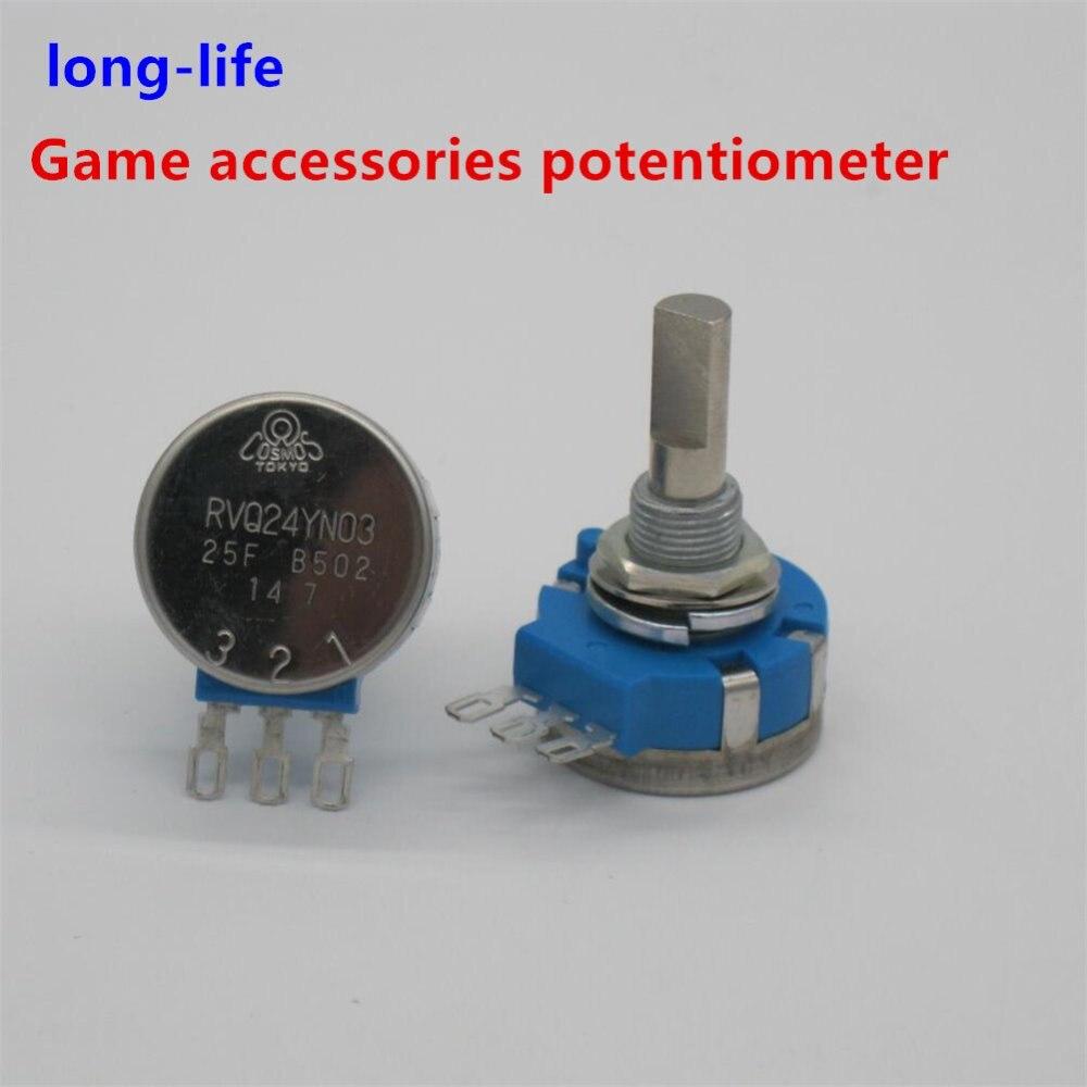 Электронный игровой потенциометр RVQ24YN03 25F B502 5K 25 мм, вал оси, RVQ24YN03-25F-B502, оригинальные консоли длительного использования