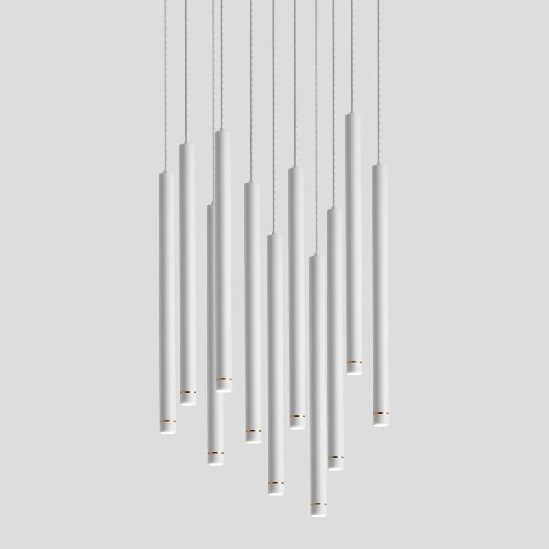 Luces colgantes LED, luces de alto brillo, Diseño de barra larga, ahorro de energía, cilindro de lujo, barra de comedor de aluminio de aviación de 110-220V