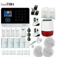 SmartYIBA systeme dalarme anti-vol   Sans fil  Wifi GSM IOS Android APP  telecommande LCD  GSM SMS  securite de la maison