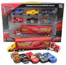 Neue 7 Teile/los Disney Pixar Auto 3 Blitz McQueen Jackson Storm Mater Mack Onkel Lkw 1:55 Druckguss Auto Modell junge Spielzeug
