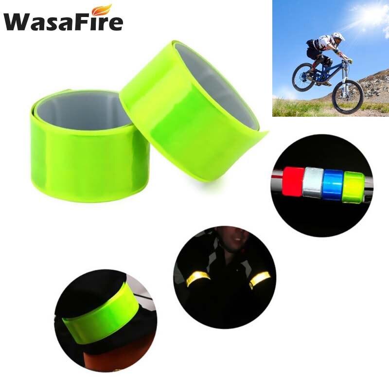 Luz de advertencia de seguridad para ciclismo de alta visibilidad, 1 unidad, cinta reflectante para pantalones y piernas, accesorios para bicicleta