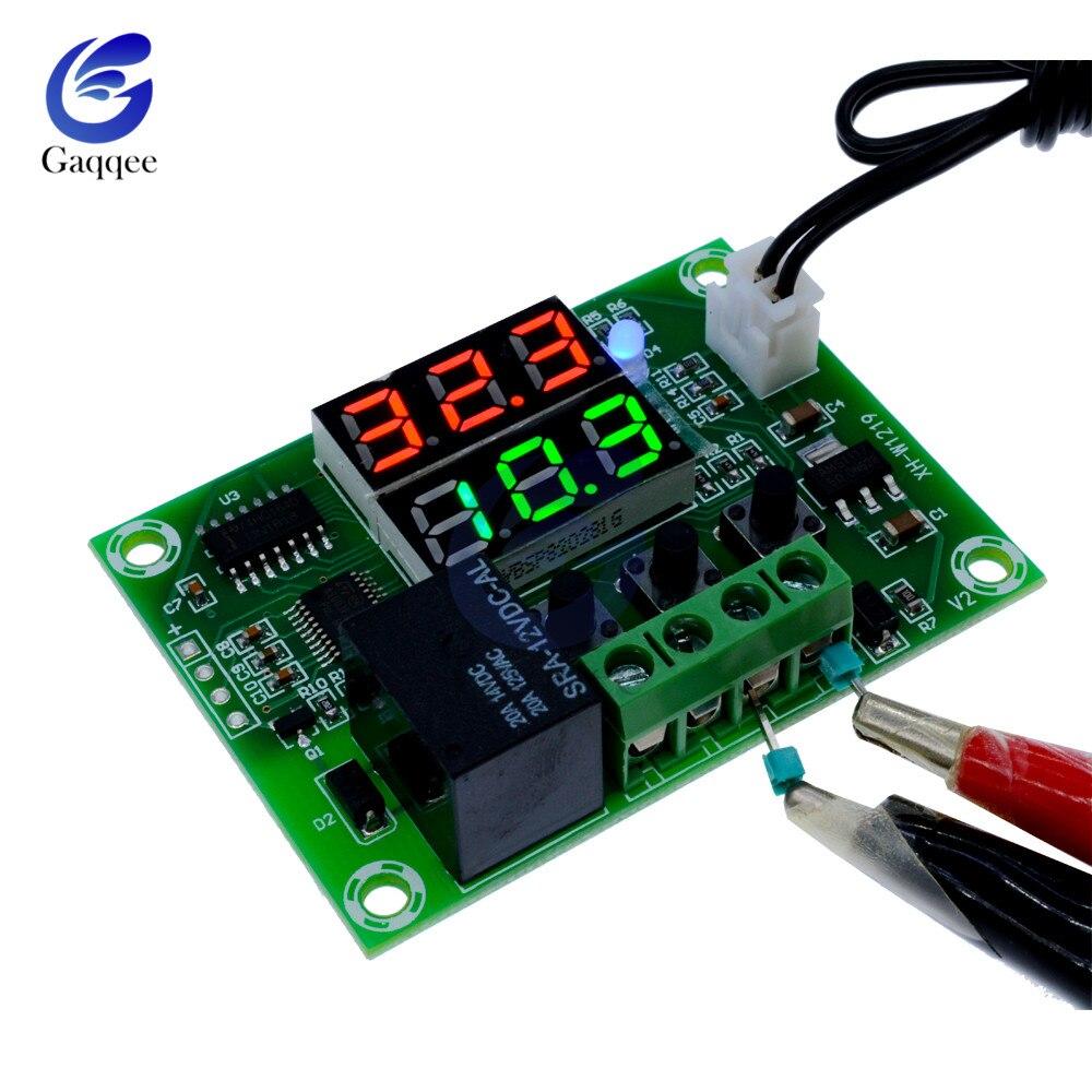 W1219 DC 12V Thermostat Relais Dual LED Digital Temperatur Regler Schalter Controller Wasserdicht NTC Temperatur Sensor Sonde