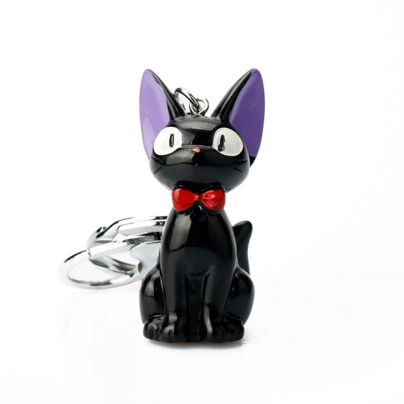 Servicio de entrega de Anime Kiki llavero de gato de dibujos animados bolso de mujer niñas bolso llavero colgante hebilla llaveros regalo
