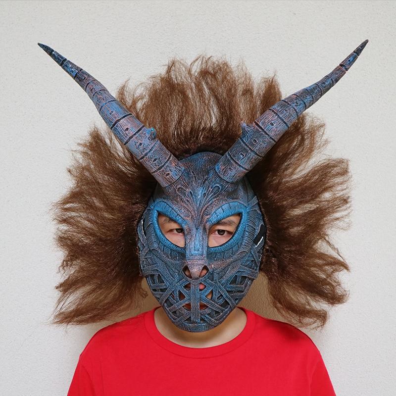 Латексная Маска для косплея Эрика килмонгера с шлемом для волос, Черная пантера, коричневая и Синяя Маска с париком, аксессуары для костюма