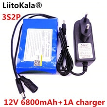 HK LiitoKala High Quality DC 12V 6800mAh 18650 Li-ion Rechargeable Battery Pack Charging Power Bank For GPS Car Camera