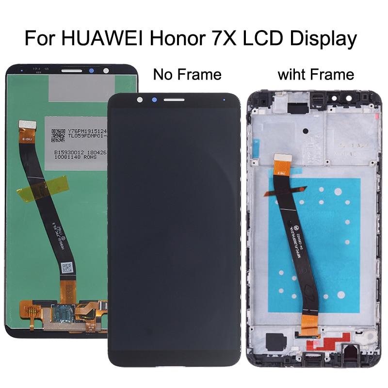 "5,93 ""para Huawei Honor 7X pantalla LCD de pantalla táctil digitalizador Asamblea reemplazo de pantalla para Huawei Honor7X BND-AL10 BND-L21/ l22"