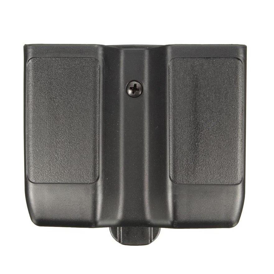 Bolsa táctica Airsoft para revistas, bolsa doble para revistas, se adapta a Colt 1911 Beretta M92 M9 Sig P226 HK USP Glock 17 19