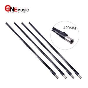 5 Pcs 420mm Double Course Way 2 way Adjustment Steel Truss Rod for Guitar Black Inner Diameter 9mm