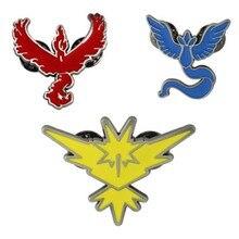 Figuras de acción de Pokémon, triples de aleación, insignias de animales, broche con logotipo de Pokémon, elfo, Baby round, juegos de animación