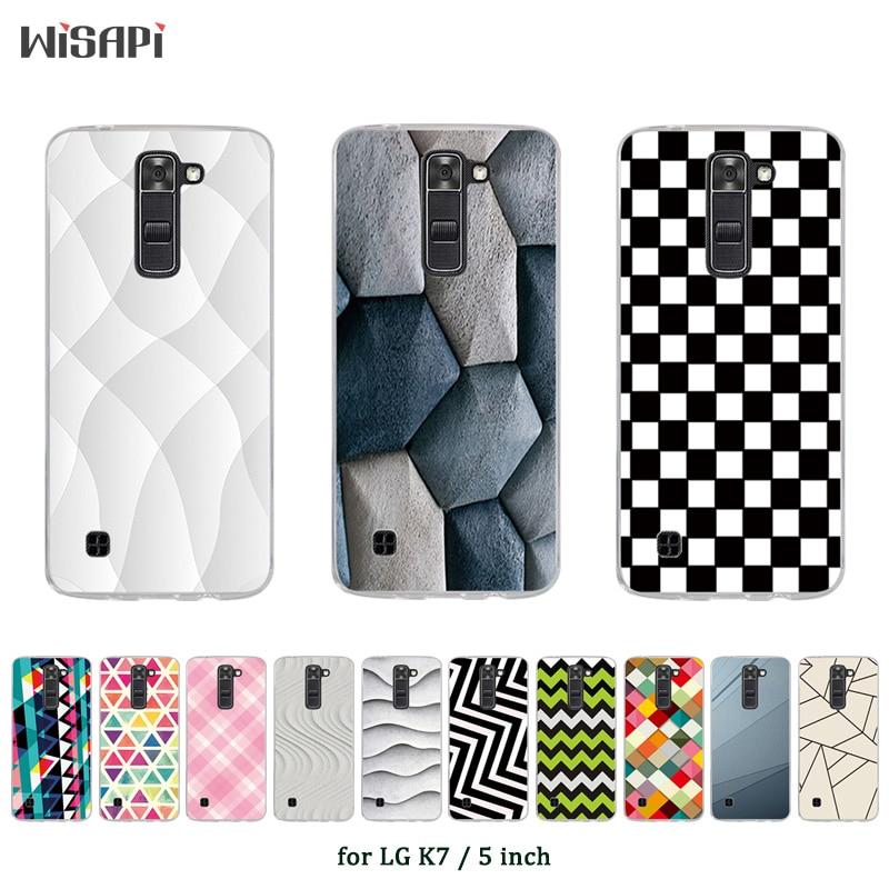 Para LG K7 Plaza impresa cubierta Fundas para LG K7 K330/homenaje 5 LS675/X210 X210DS TPU funda del teléfono de silicona suave