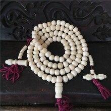 Tibetan Jewelry Yak Bone 108 Buddism Prayer Beads Bracelet White Color Mala Tibet Style Free Shipping