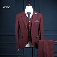 jacketpantsvest new brand wine red mens suits slim fit wedding male suits jacket blazers groom prom tuxedos formal suit