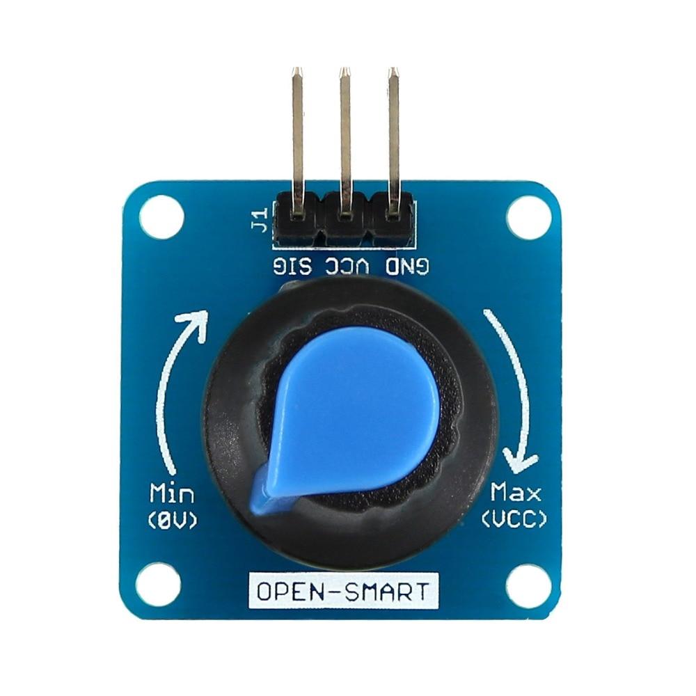 Módulo del Sensor de ángulo giratorio azul/potenciómetro ajustable de Control de volumen/interruptor de perilla Sensor de ángulo giratorio para Arduino