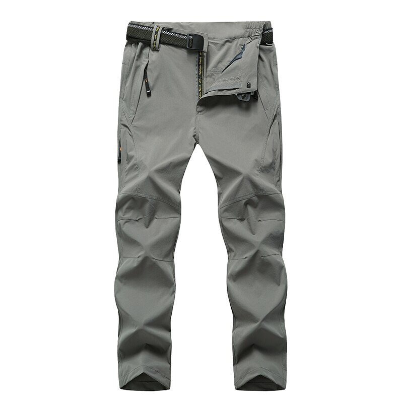 Pantalones de senderismo Softshell al aire libre para hombre 5XL 6XL 7XL 8XL impermeable pantalones transpirables para hombre Pantalones deportivos de gran tamaño
