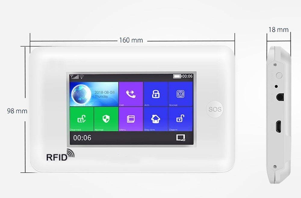 4G 3G Wireless WIFI Home Security Alarm KNIT 4.3 inch Screen Video IP Camera Burglar Alarm Sensor Tuya APP Control Amazon Alexa enlarge