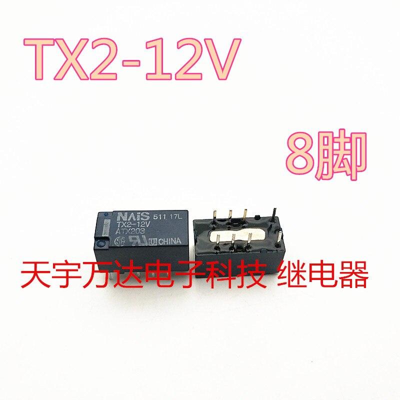 TX2-12V ATX203 Relé 8PIN 12VDC
