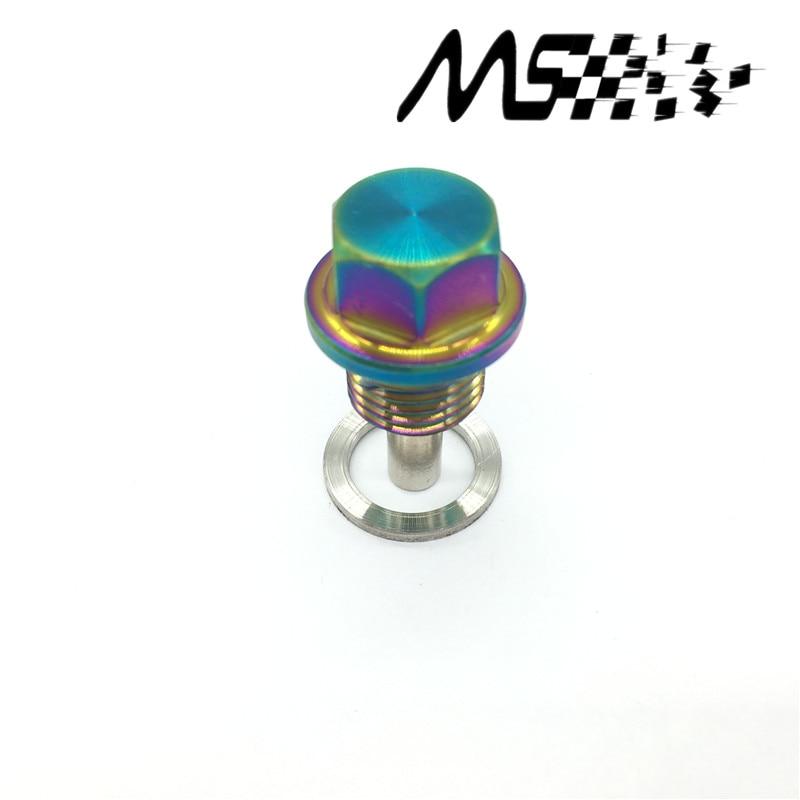 Titanium liga neo cromo dreno de óleo magnético plug m14 * 1.5