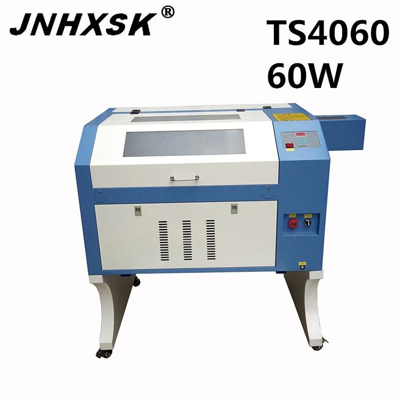 JNHXSK láser TS4060 60w mini cortador de grabado láser con interfaz usb 2,0 CO2 panal mesa de trabajo 400x600mm CNC