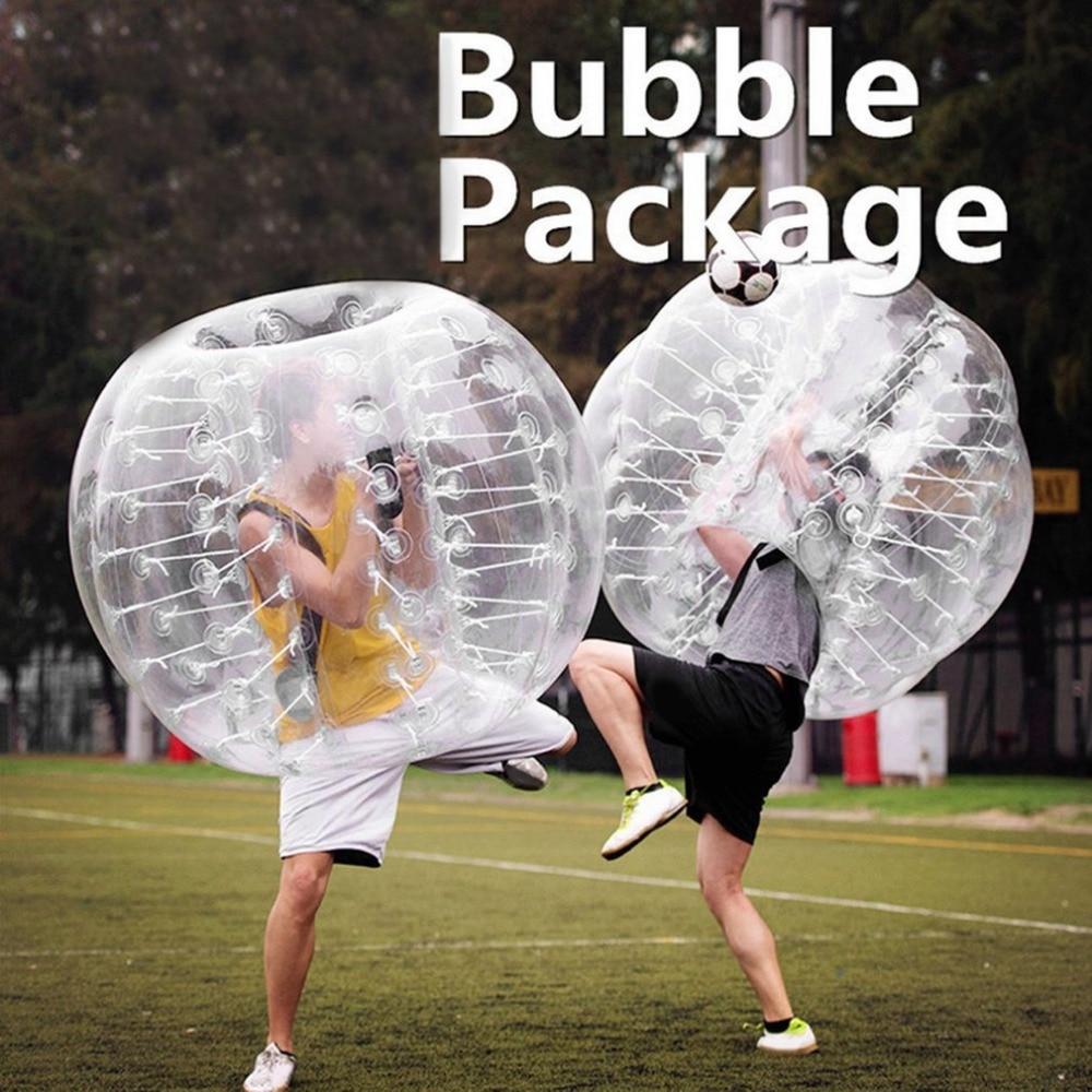 0,8mm de espesor PVC burbuja inflable Buffer Balls golpeador humano Bumper Zorb Ball para adultos actividad al aire libre Running Body Suit nuevo