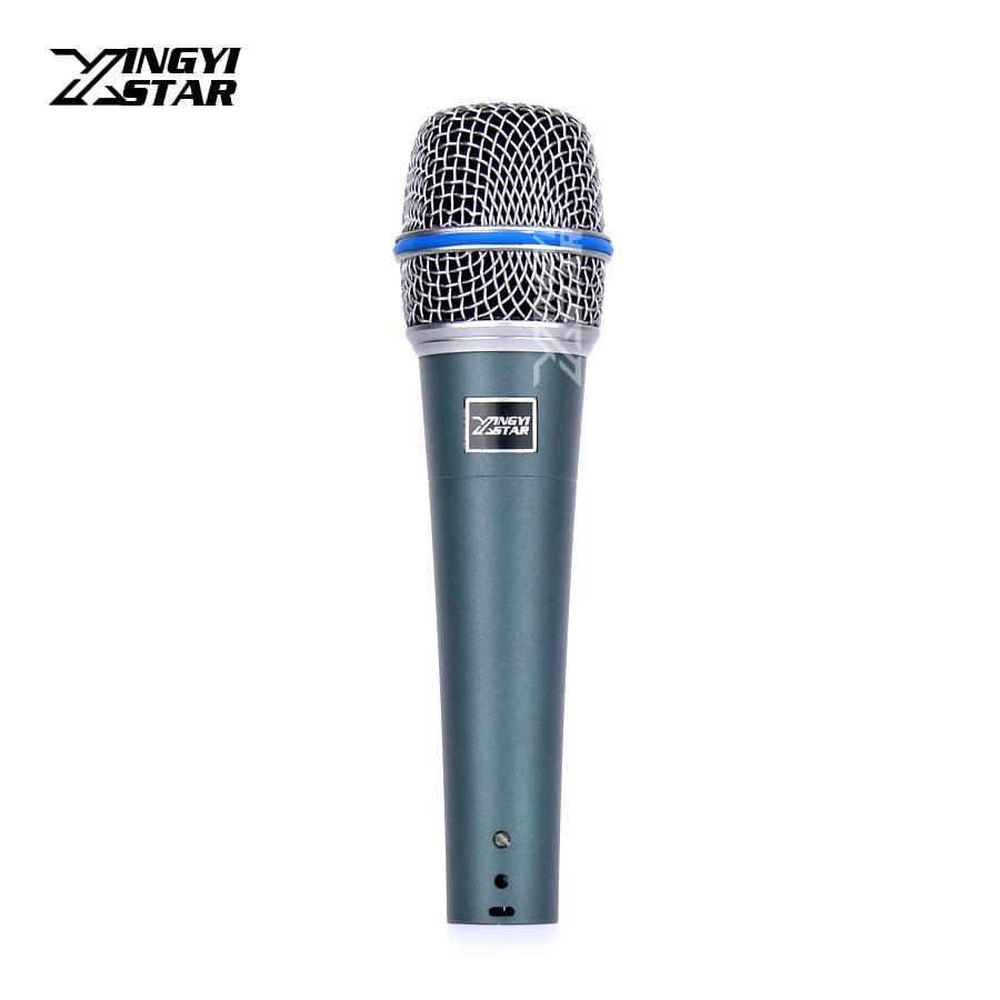 BETA57A профессиональный ручной микрофон кардиоидный вокальный динамический микрофон система микрофон для караоке Youtube усилитель говорящие лекции