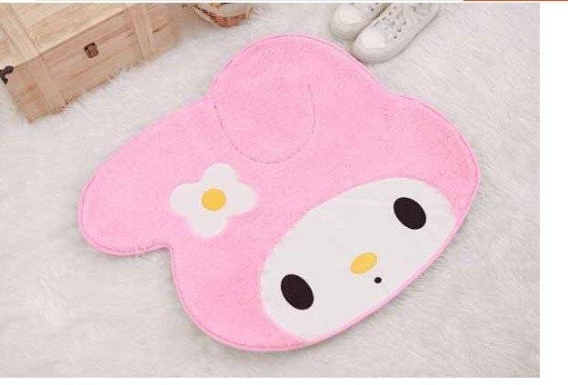 Envío Gratis tamaño: 70x60cm My Melody moqueta rosa tan suave la alfombra del dormitorio mat alfombra de recibidor pad