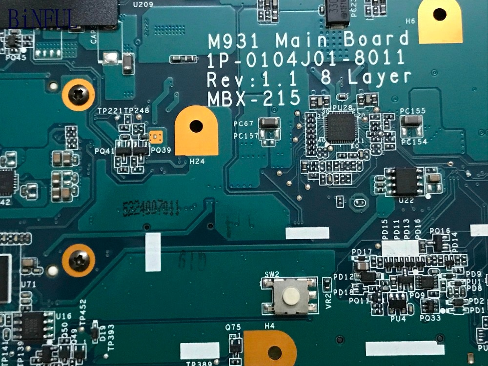 BiNFUL NOVO ITEM, M931 MAINBOARD (COMPATINLE M930) PARA SONY VPCF11 MBX-215 laptop motherbord (compare antes da ordem)