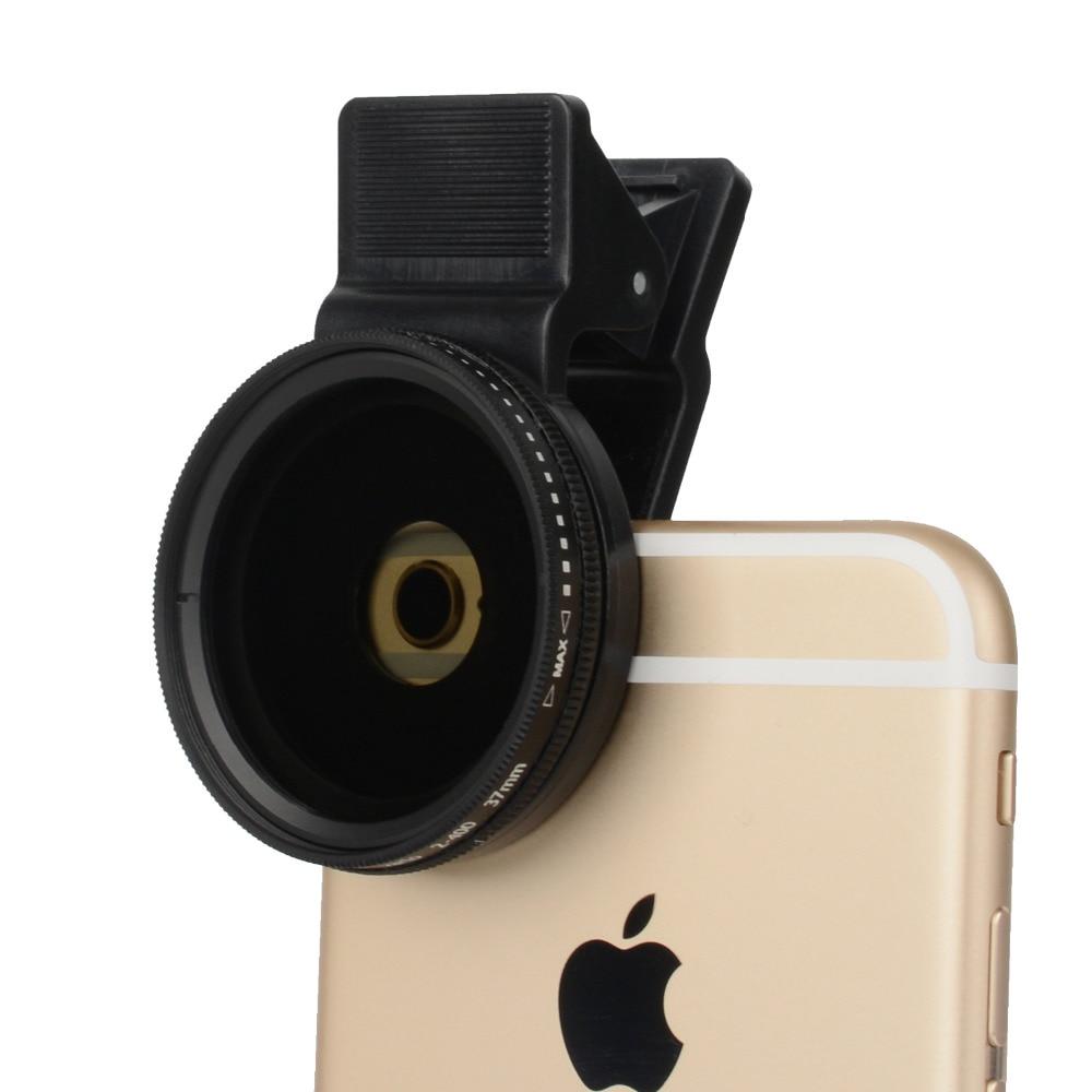 ZOMEI 37 мм объектив камеры мобильного телефона Pro Универсальный ND круговой поляризатор фильтр ND2-ND400 для iPhone Samsung Huawei с зажимом