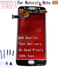 Pour Motorola Moto G5S XT1792 XT1793 XT1794 XT1795 LCD écran tactile numériseur assemblée sans cadre avec outil gratuit
