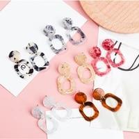 fashion jewelry 6 colors acetic acid acrylic drop earrings for women geometric round square dangle earrings female girl gift