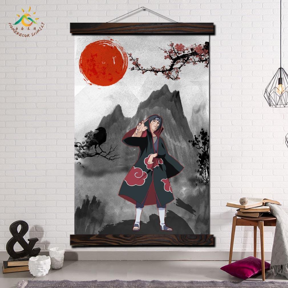 Itachi, pósteres e impresiones artísticos Pop de arte de pared moderno de Naruto Anime, lienzo de desplazamiento, cuadros de pared para sala de estar