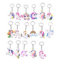 5/10pcs Trendy Cute Animal Unicorn Keychain Adults Bag Key Chain Charm Decor Kids Favor Bag Ornament Keyring Pendant Supplies 8z