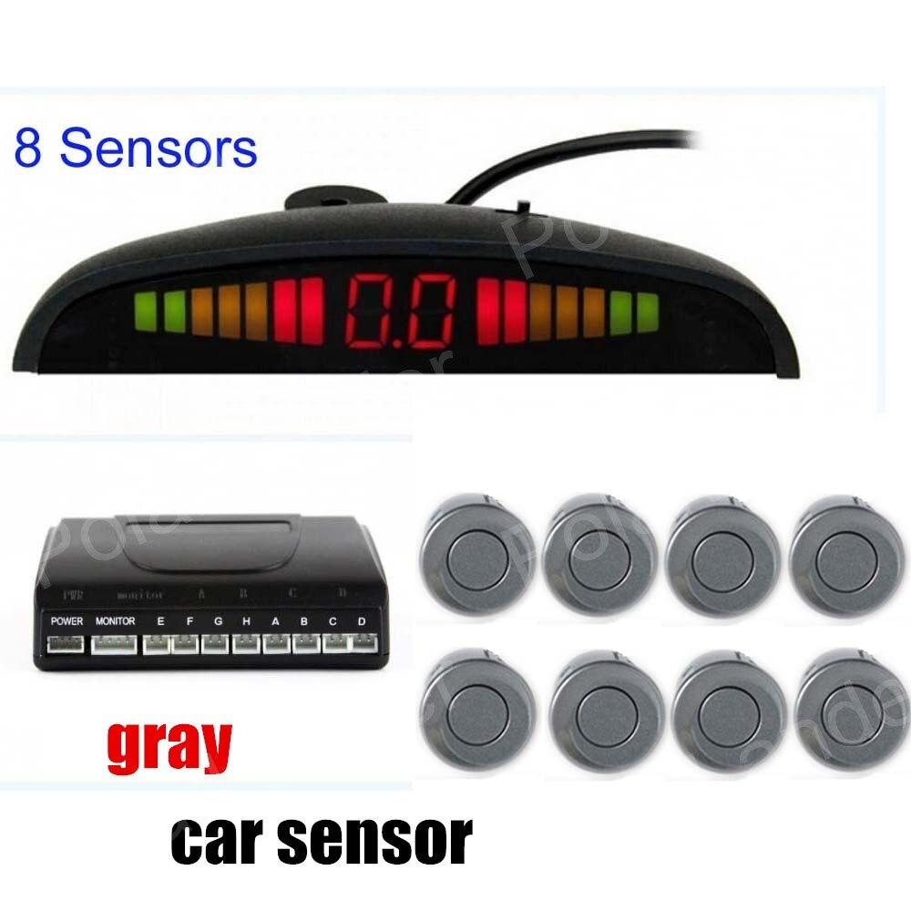 Auto LED Display monitor 8 sensoren parkeer Sensor Reverse Radar Front 4 Achter 4 Sensoren 9 kleuren beschikbaar parking assistance