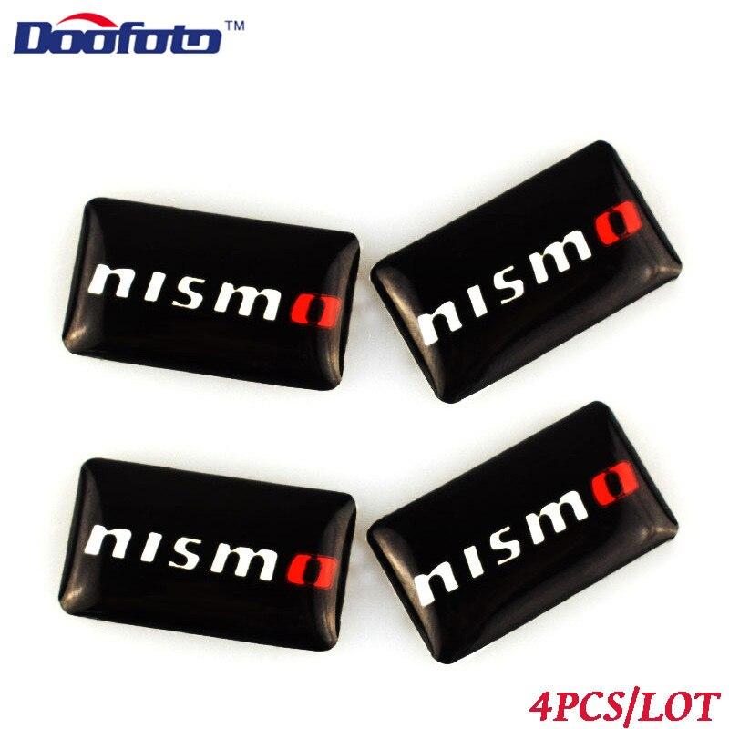 Pegatinas de diseño para coche japonés doofato, accesorios para el emblema Nissan 370z de Nismo, calcomanía, funda para Qashqai x-trail Juke Sunny Gtr Tiida